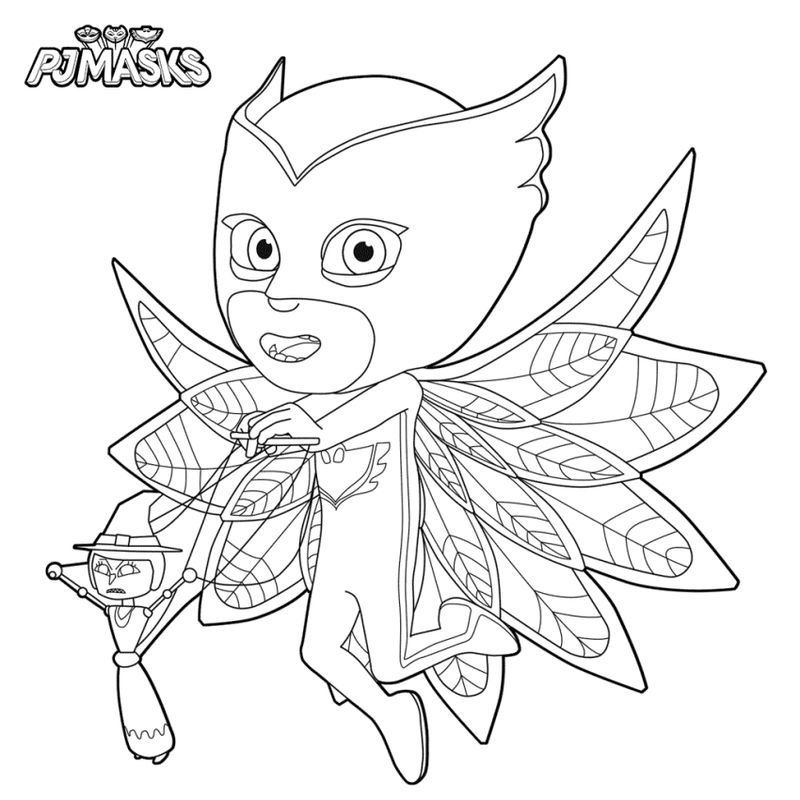 Pj Masks Coloring Character Pages 001