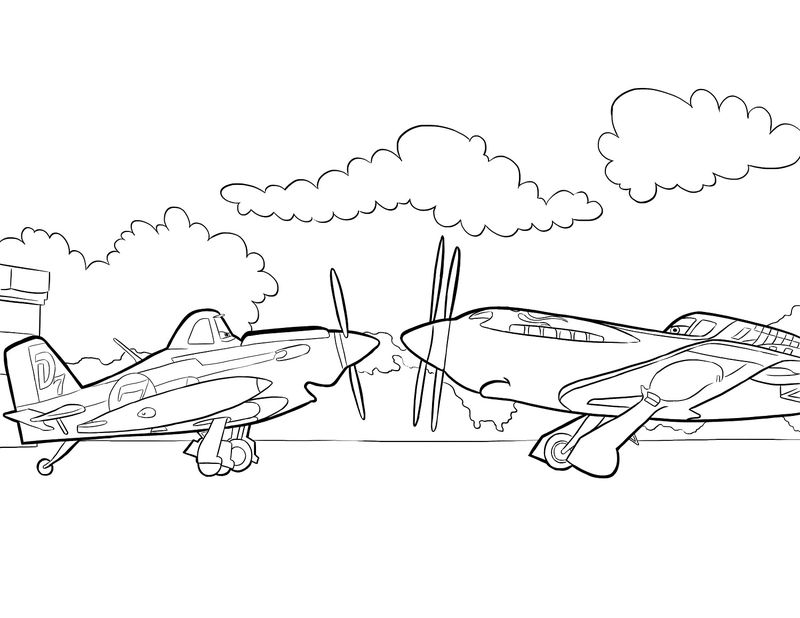 Planes Colouring Pages For Children