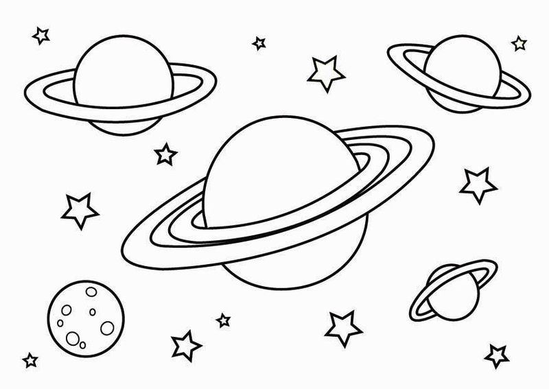 Planet Coloring Pages For Free 001
