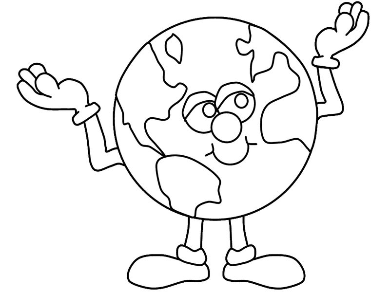 Planet Earth Day Coloring Page