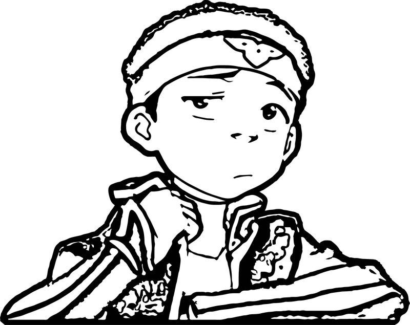Png Avatar Aang Coloring Page