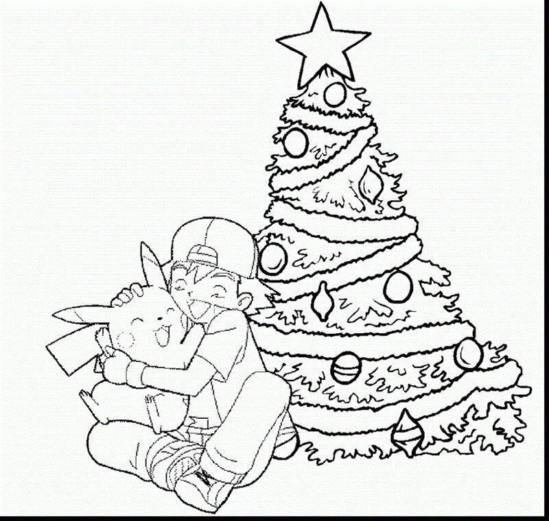 Pokemon Christmas Coloring Pages Free