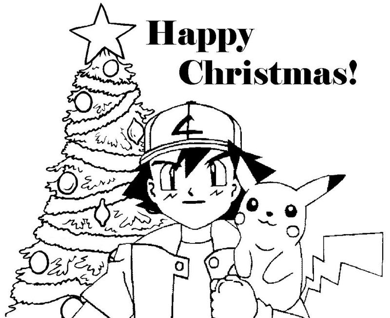 Pokemon Christmas Coloring Pages Simple