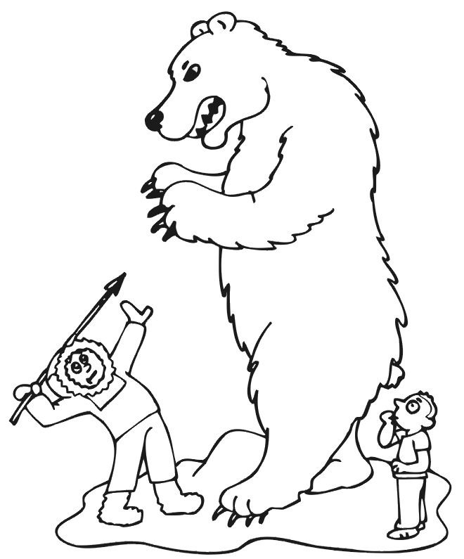 Polar Bear Coloring Pages For Kids1