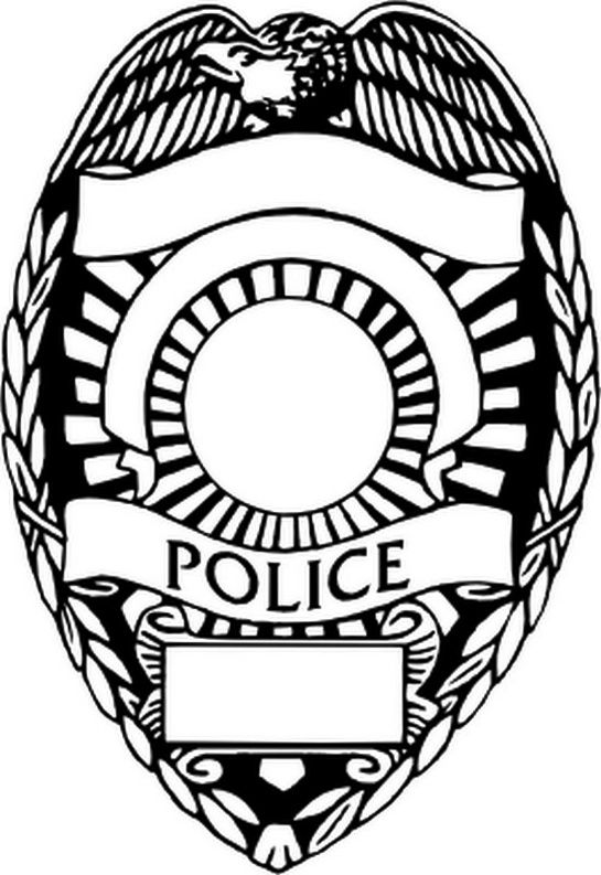Police Badge Coloring Page Printable