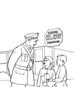 Policeman coloring pages printable