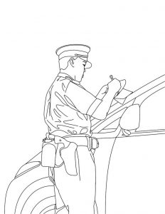 Policeman coloring pages to print