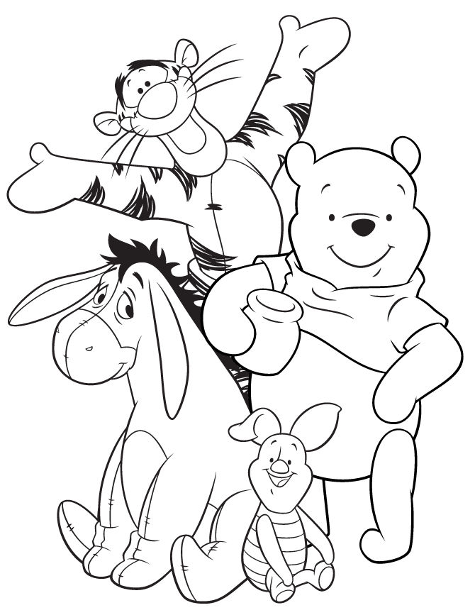 Pooh Characters Tigger Coloring Pages
