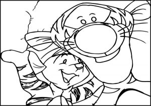 Pooh wallpaper tigger roo in the tigger movie coloring page