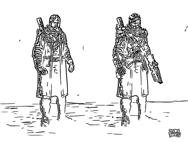 Post Apocalyptic Character Design D Torres D6rdido Cartoonize Coloring Page