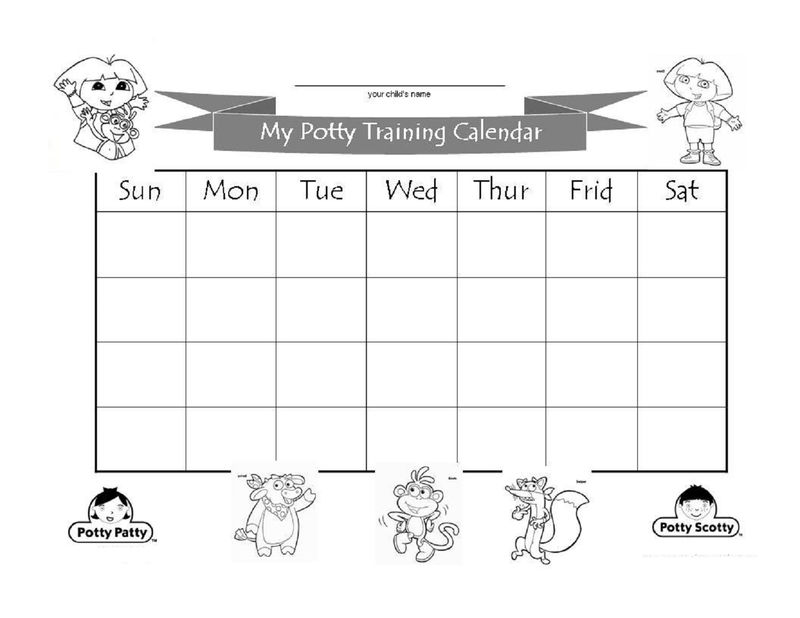 Potty Chart For Kids