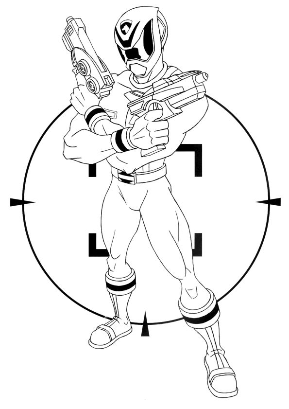 Power Rangers Coloring Pages For Kids Printable