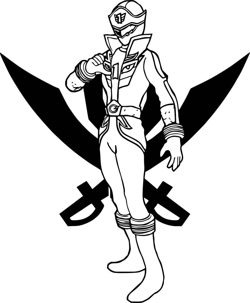 Power Rangers Gokai Fire Coloring Page
