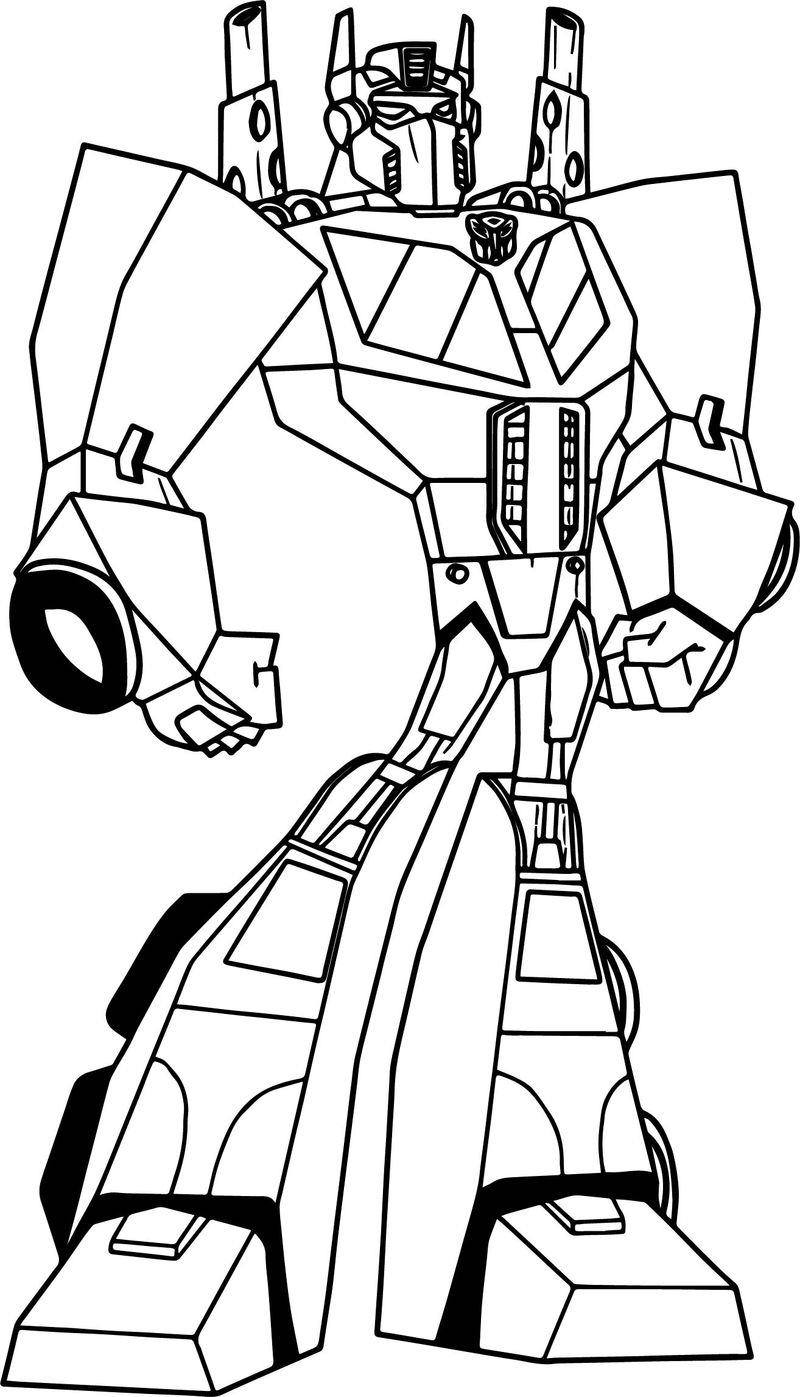 Powered Transformers Coloring Page
