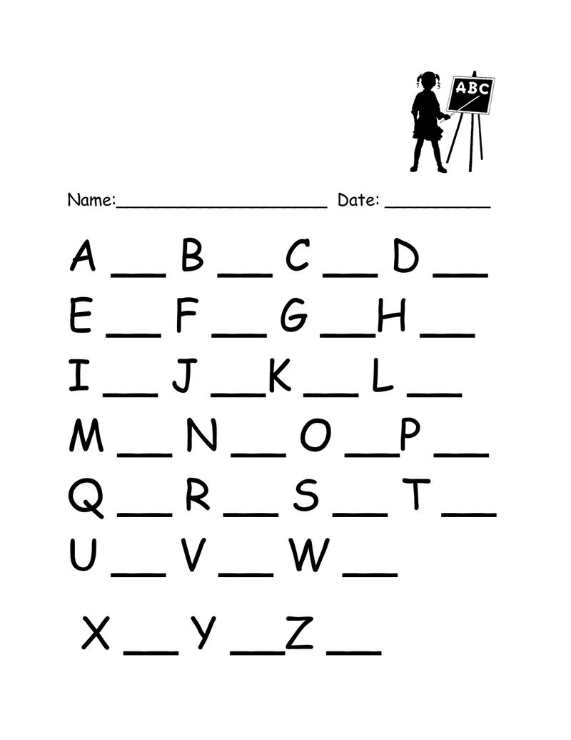 Practice Writing Alphabet Black 001