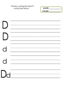 Practice writing letters for kids 001