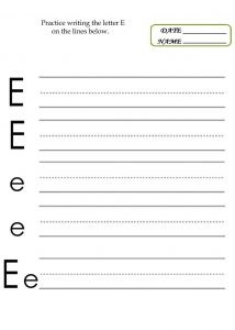 Practice writing letters page 001