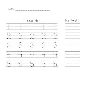 Practice writing numbers preschool 1 5 activity 001