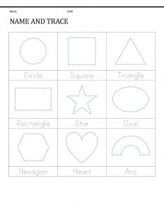 Pre k shapes worksheets learning 001
