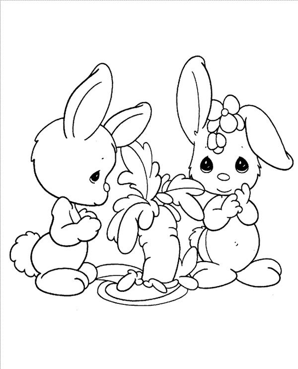 Precious Moments Baby Animals Coloring Pages