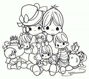 Precious mothers day coloring pages
