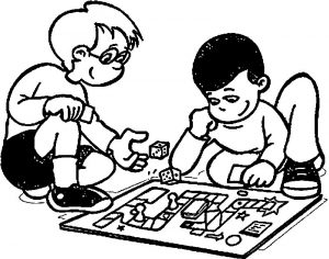 Preferred activity time activity coloring page
