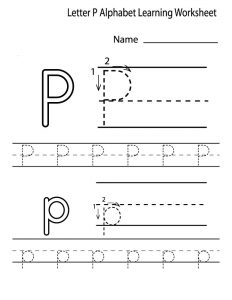 Preschool alphabet worksheets letter p