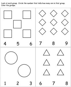 Preschool worksheets count