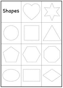 Preschool worksheets shape