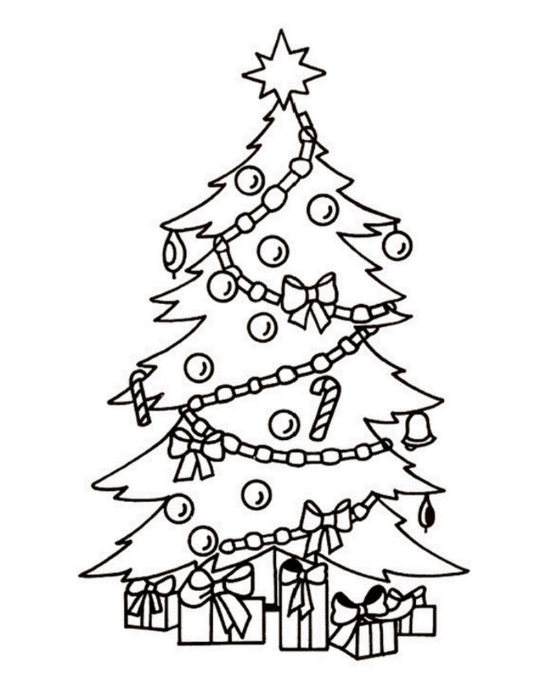 Presents Under The Tree Coloring Page 001