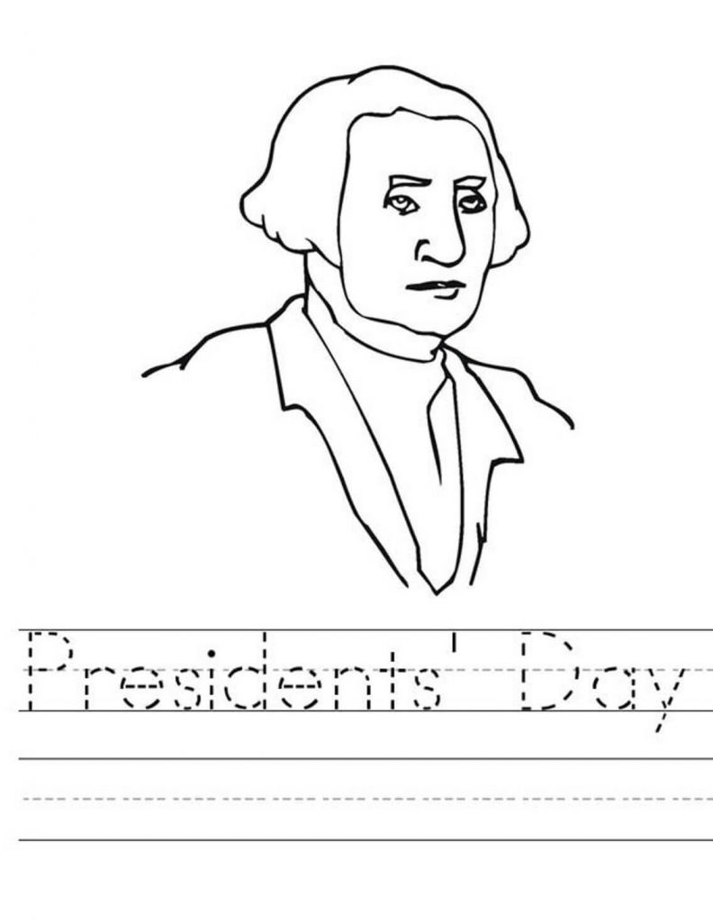 Presidents day writing worksheet