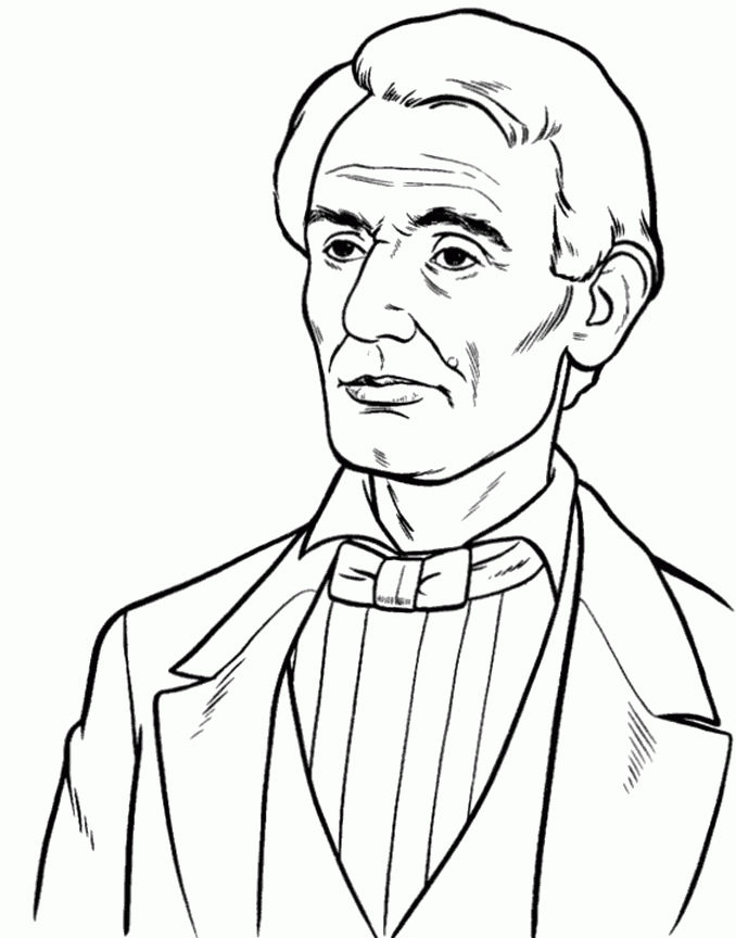 Presidents Day Young Abraham Lincoln Coloring Page
