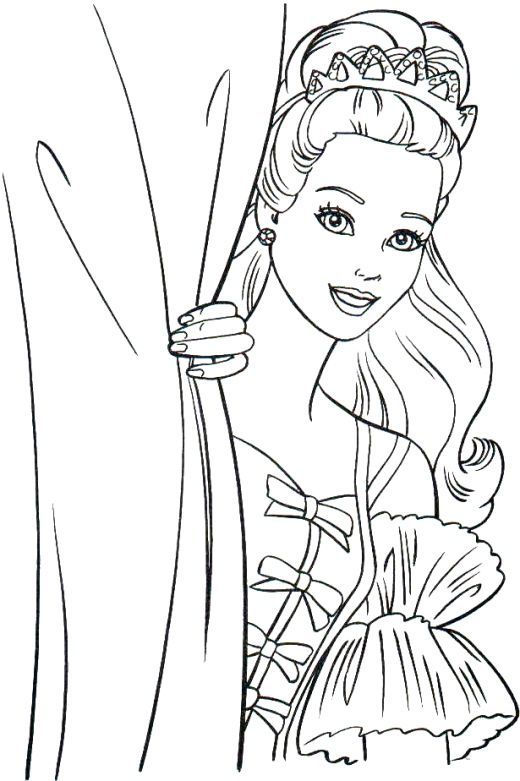 Pretty Barbie Princess Coloring Pages