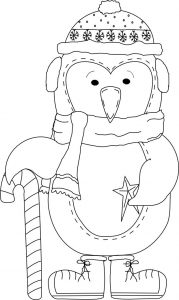 Pretty winter penguin coloring pages