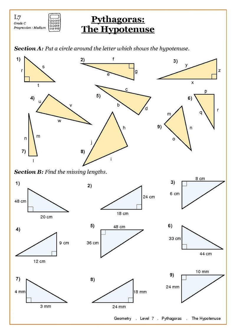 Primary 4 Maths Worksheets Geometry