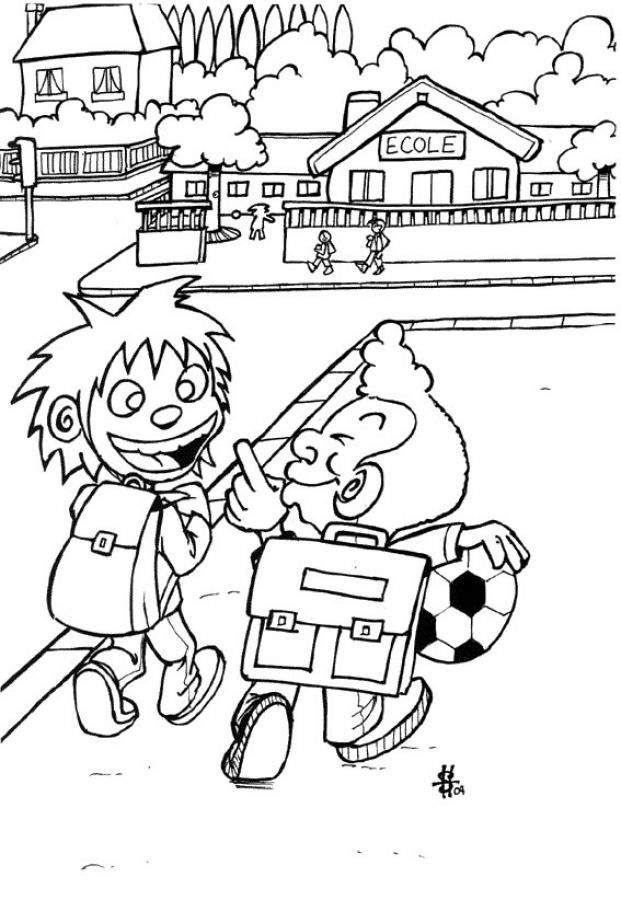 Primary School Coloring Pages
