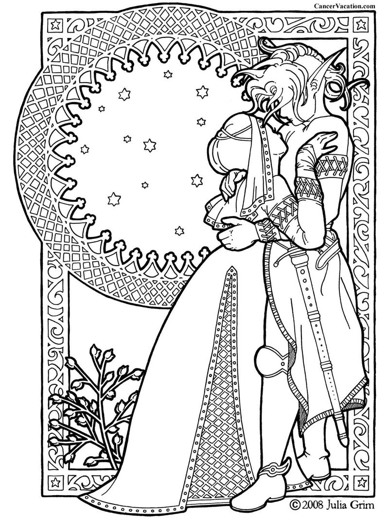 Prince And Princess Coloring Pages For Adults