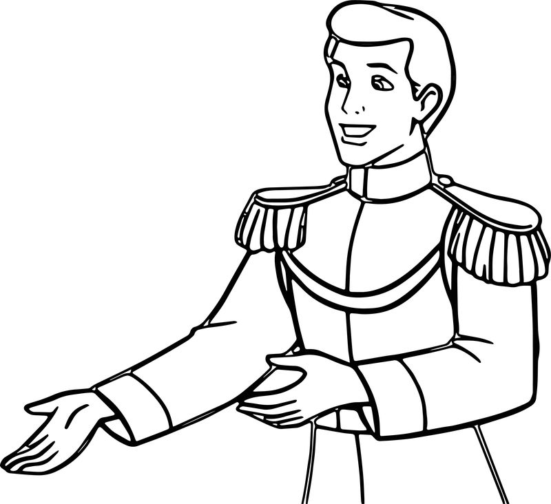 Prince Charming Coloring Page 3