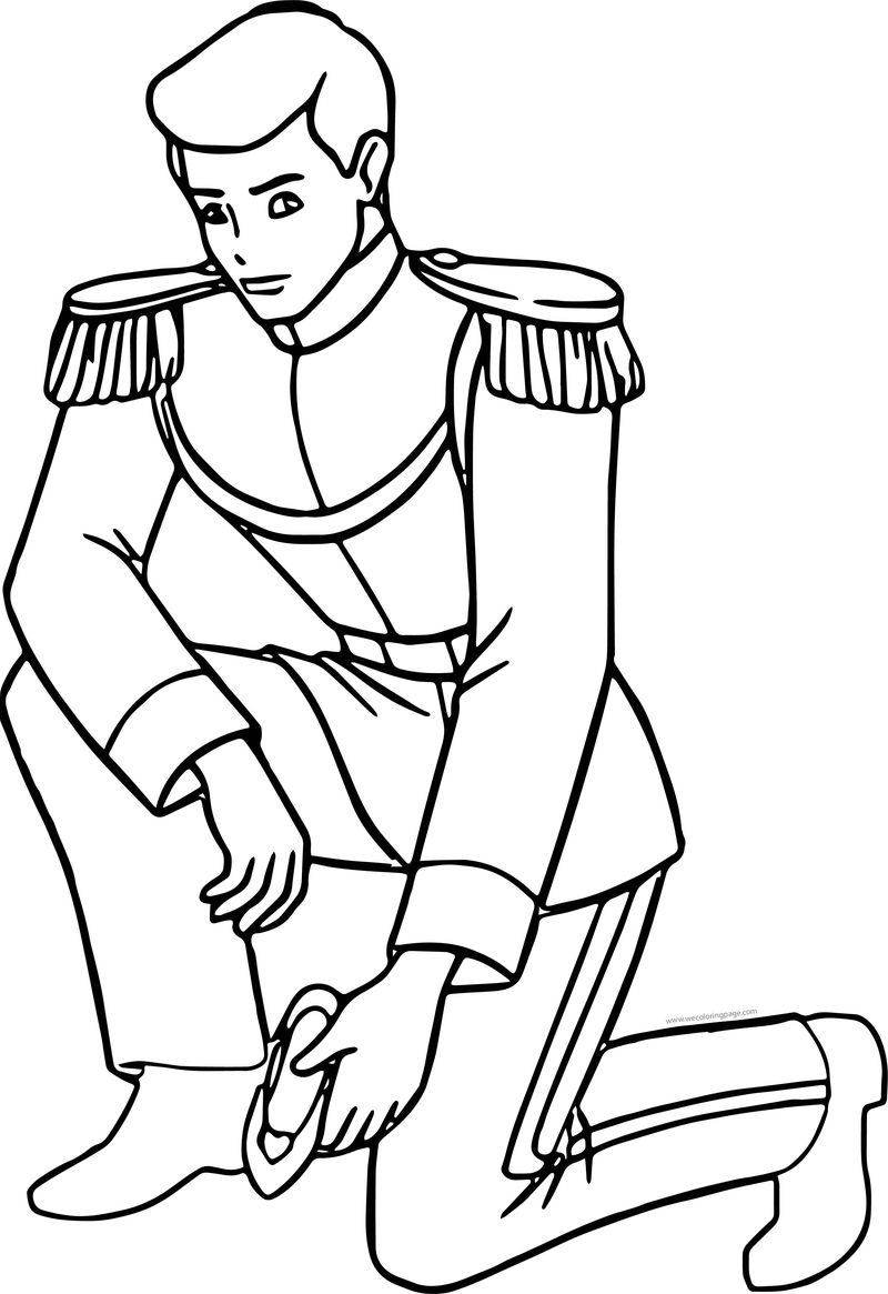 Prince Charming Who Is This Shoe Coloring Page