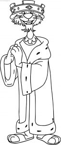 Prince john standing coloring page