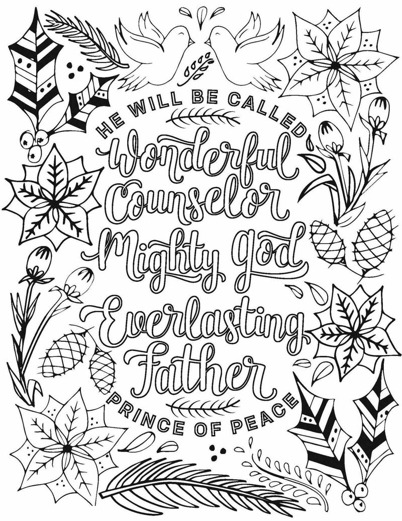 Prince Of Peace Christmas Coloring Pages For Adults