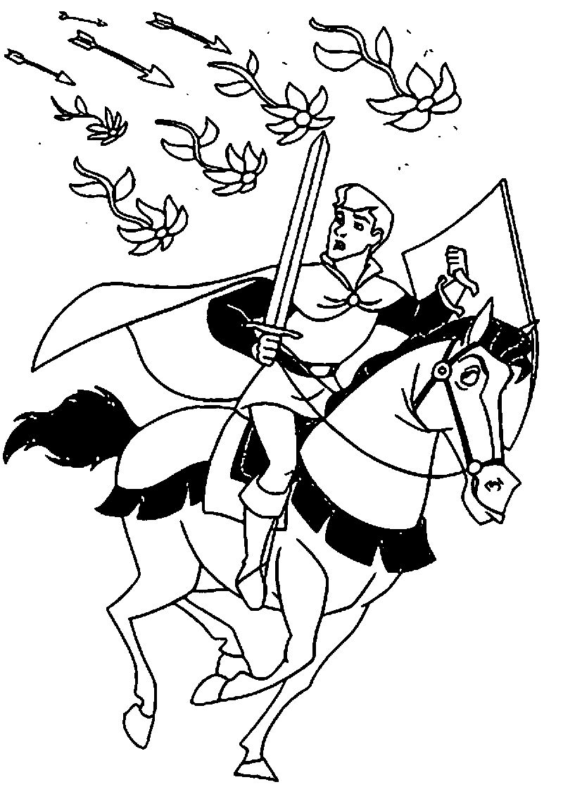 Prince Phillip And Samson Coloring Pages 03