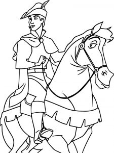 Prince phillip and samson horse going coloring pages