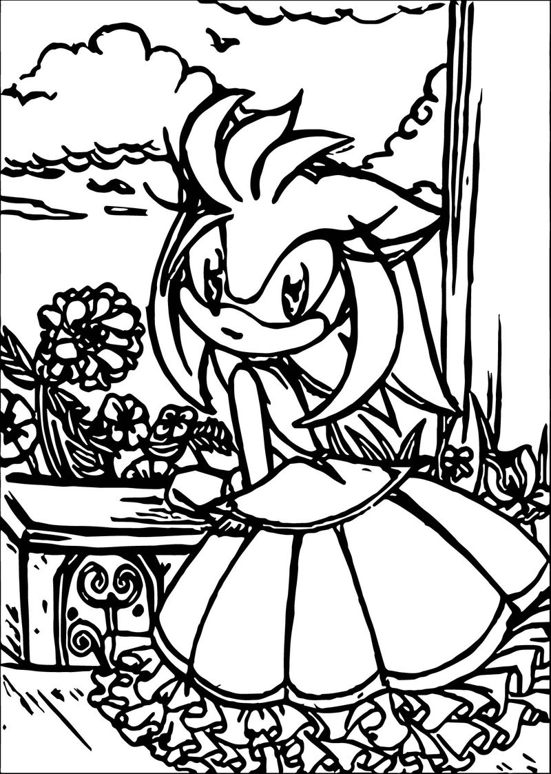Princess Amy Rose Coloring Pages