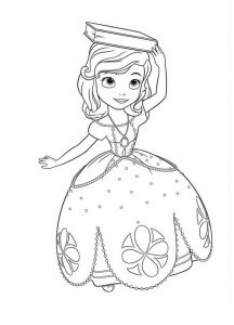 Princess coloring pages anna 001