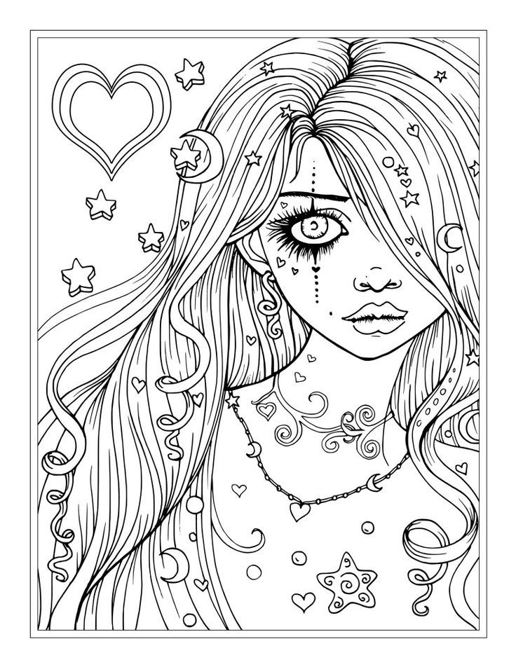 Princess Coloring Pages For Teens And Adults
