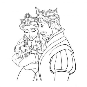 Princess coloring pages tangled 001