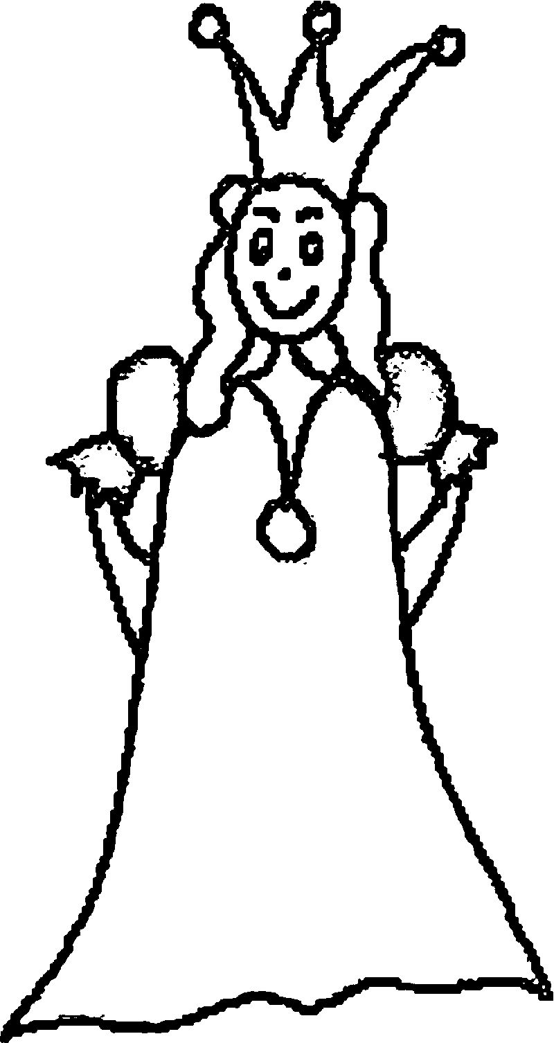 Princess Draw Coloring Page