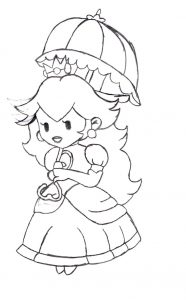 Princess peach coloring pages printable 001