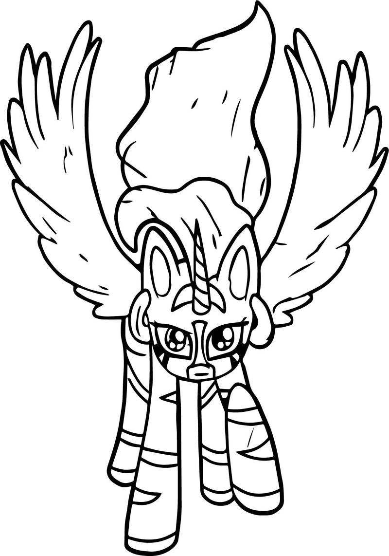 Princess Zecora Fly Coloring Page
